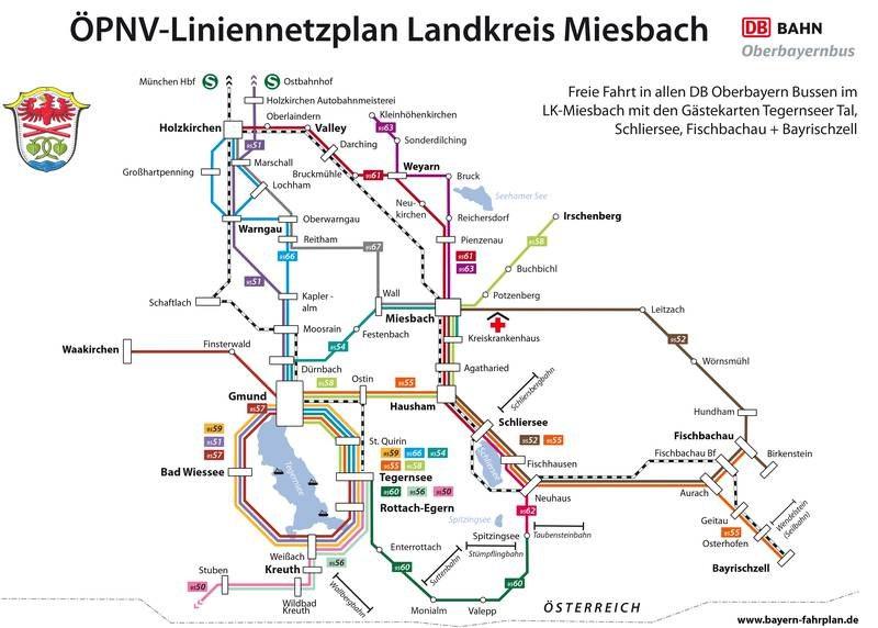Liniennetzplan RVO Fischbachau